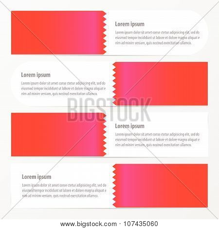Zigzag Banner  Pink Color