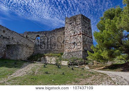 fortress in Berat in summertime, Albania
