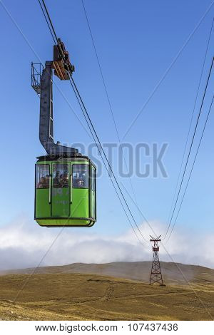 Green Cable Car