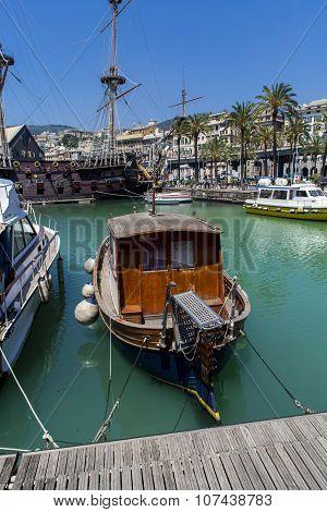 Il Galeone Neptune Pirate Ship In Genoa, Italy