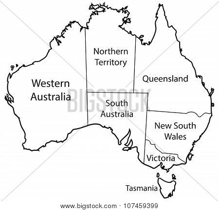 Australia Territories Outline