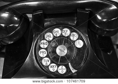 Old Phone - Antique Rotary Dial Telephone