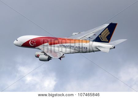 Singapore Airlines Airbus A380 Airplane