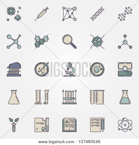 Biotechnology flat icons