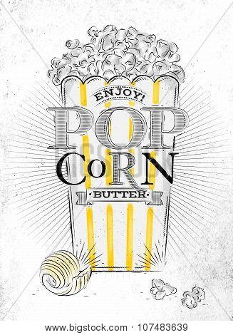 Poster Popcorn Butter