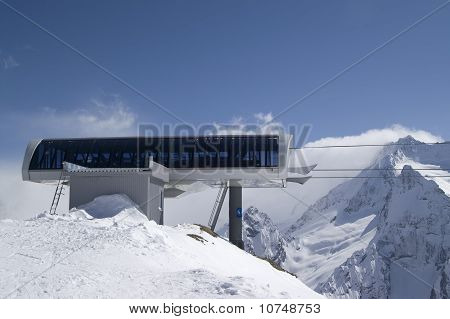 Station Of Ropeway. Ski Resort.