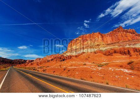 Road in prairie country