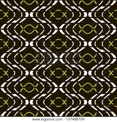 Abstract Seamless Pattern Of Discrete Wavy Lines