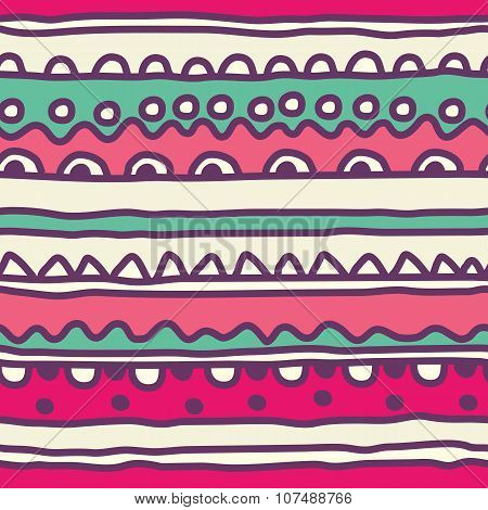 Seamless pattern of kids lubberly lines