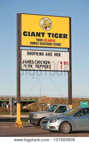Giant Tiger Store Sign