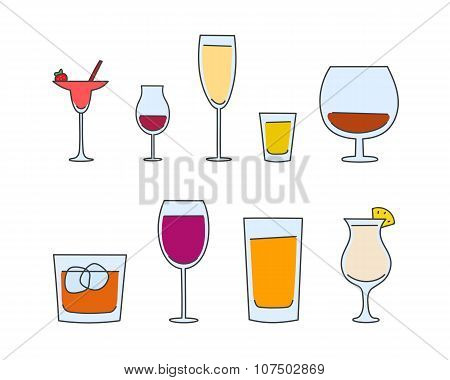 vector alcohol tableware