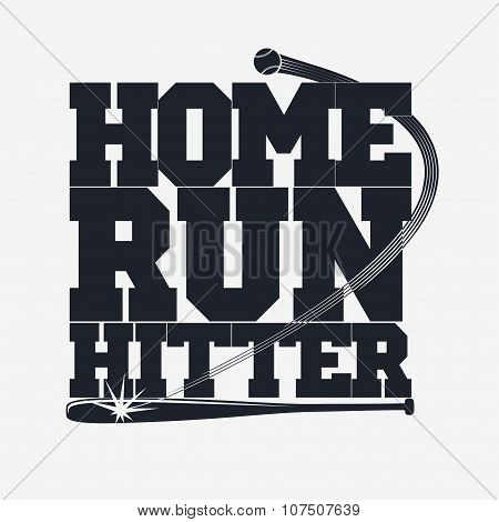 Baseball emblem for t-shirt