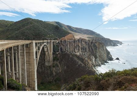 Bixby Bridge On Cabrillo Highway