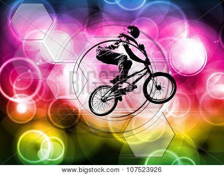 BMX biker poster