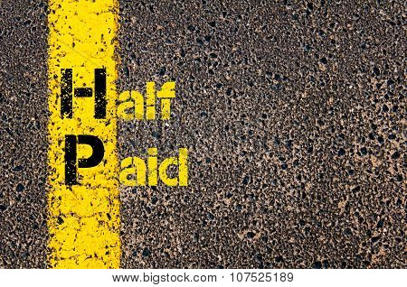 Business Acronym Hp As Half Paid