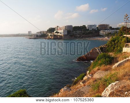 Coast of Salu in Costa Dorada, Spain