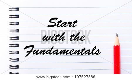Start With The Fundamentals