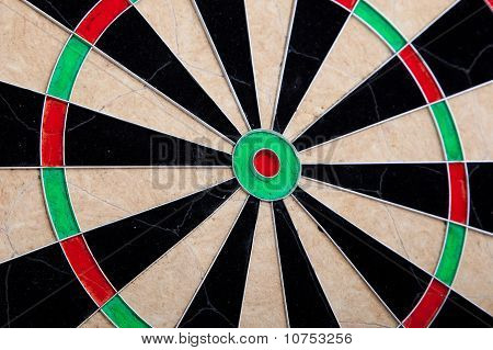 Perspective Of Cracked Darts Board