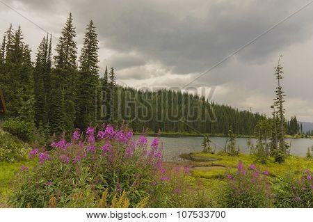 Alpine Lake At Salmo Pass In The Kootenays British Culumbia Canada