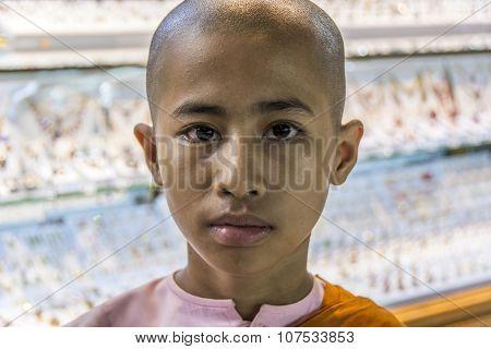Novice Monk  In Famous Shwe Yan Pyay Monastery School