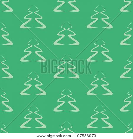 Silhouettes of Christmas trees