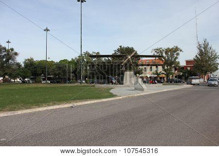 Santa Cruz Fairey Seaplane Monument In Belem