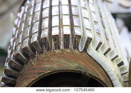 Stator of a big electric motor