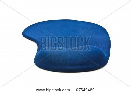 An Ergonomic Mouse Pad Isolated On The White Background