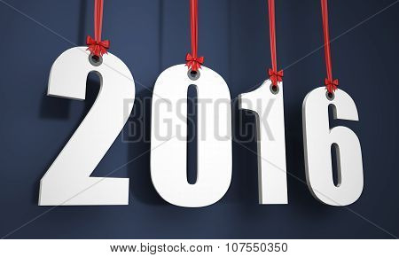 3D Happy New Year 2016 Hanging