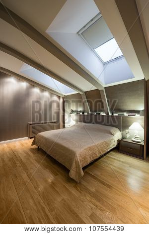 Interior Of A Specious Luxury Bedroom In The Loft