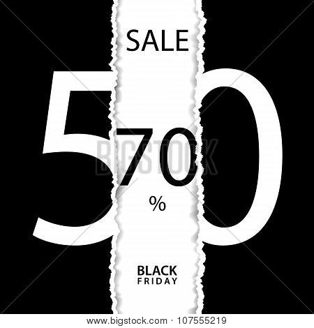 Black friday sale poster. Black friday sale banner. Sale poster with percent discount.
