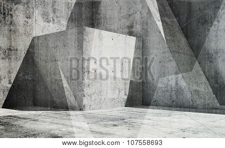 Abstract Empty Interior Background, 3D Art
