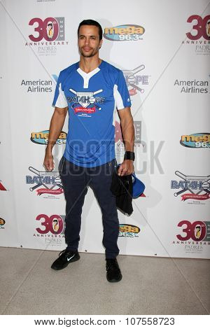 LOS ANGELES - NOV 7:  Matt Cedeno at the Adrian Gonzalez's Bat 4 Hope Celebrity Softball Game PADRES Contra El Cancer at the Dodger Stadium on November 7, 2015 in Los Angeles, CA