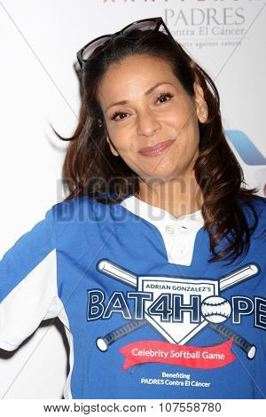 LOS ANGELES - NOV 7:  Constance Marie at the Adrian Gonzalez's Bat 4 Hope Celebrity Softball Game PADRES Contra El Cancer at the Dodger Stadium on November 7, 2015 in Los Angeles, CA