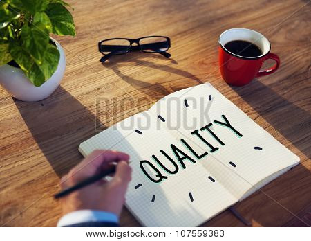 Quality Guarantee Value Grade Satisfaction Concept poster