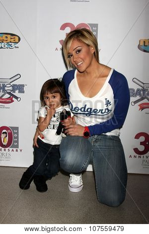 LOS ANGELES - NOV 7:  Rosie Rivera at the Adrian Gonzalez's Bat 4 Hope Celebrity Softball Game PADRES Contra El Cancer at the Dodger Stadium on November 7, 2015 in Los Angeles, CA