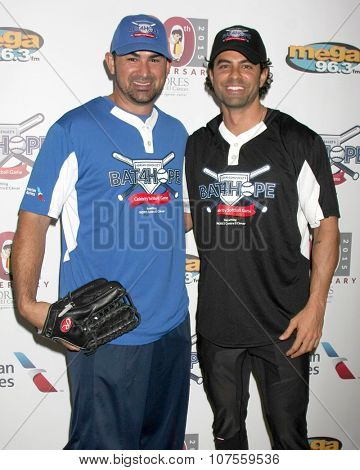 LOS ANGELES - NOV 7:  Adrian Gonzalez, Adrian Bellani at the Adrian Gonzalez's Bat 4 Hope Celebrity Softball Game PADRES Contra El Cancer at the Dodger Stadium on November 7, 2015 in Los Angeles, CA