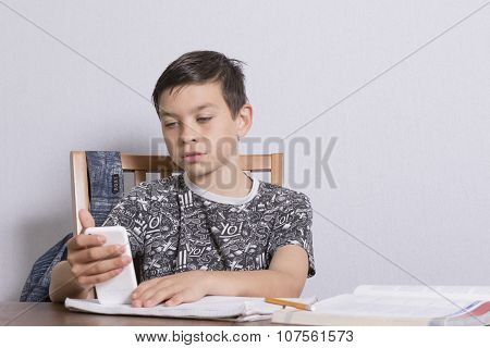 Young Boy Not Doing His Homework