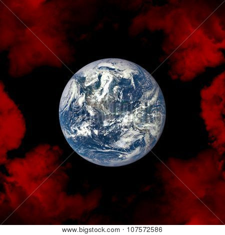 Planet Earth In Space.