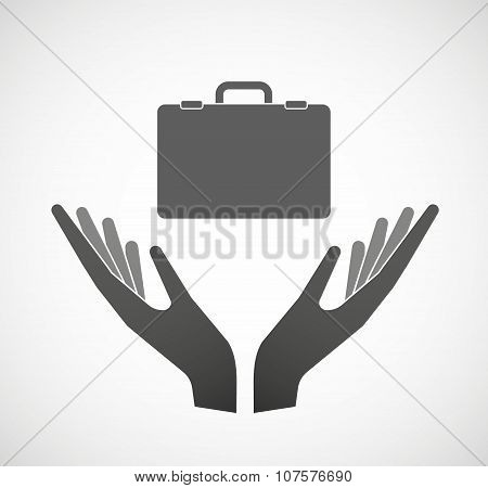 Two Vector Hands Offering  An Unbalanced Weight Scale