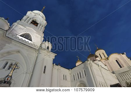 Uspensky Cathedral - UNESCO World Heritage Site. A Golden Ring of Russia travel. Vladimir, Russia poster