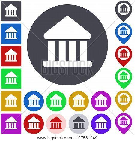 Color bank icon set