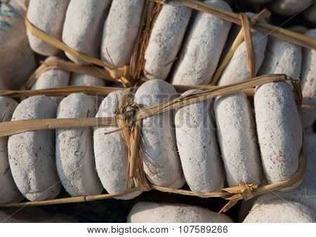 Close up of dried traditional yeast