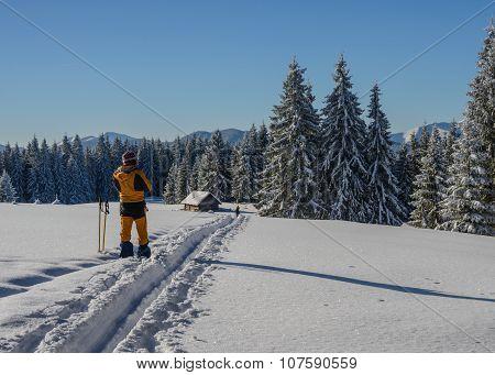 Winter Travel In Mountais