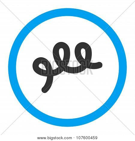 Spiral Bacillus Rounded Vector Icon