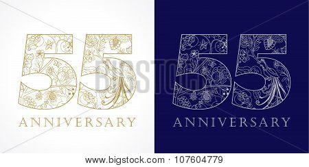 55 anniversary vintage logo.