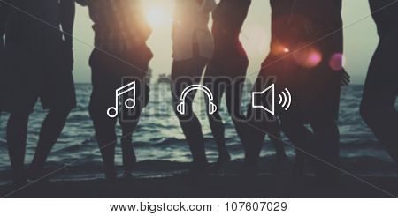 Music Sound Note Louder Audio Playlist Concept