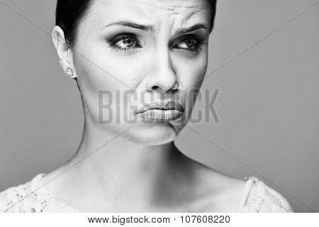 Emotional portrait of a beautiful fashion girl