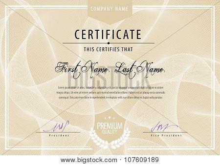 Modern Certificate.