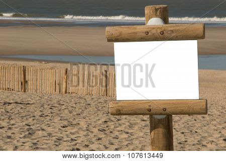On The Beach A Blanck Panel